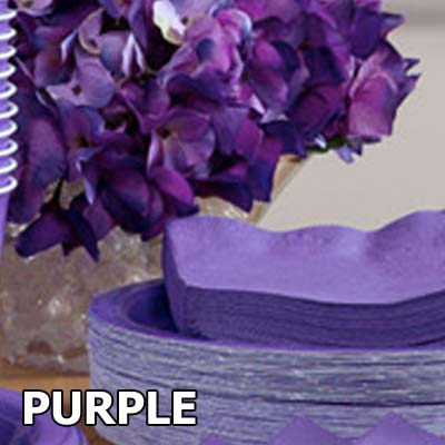 See our range of purple party & wedding supplies